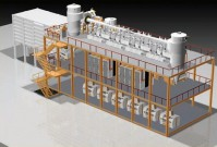 Мельничные системы на стальной конструкции