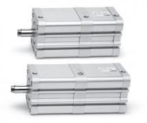 Компактные магнитные цилиндры. Серия 32 ISO 21287. Тандем и многопозиционный цилиндр.